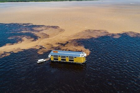 Pristine waterways of the Amazon